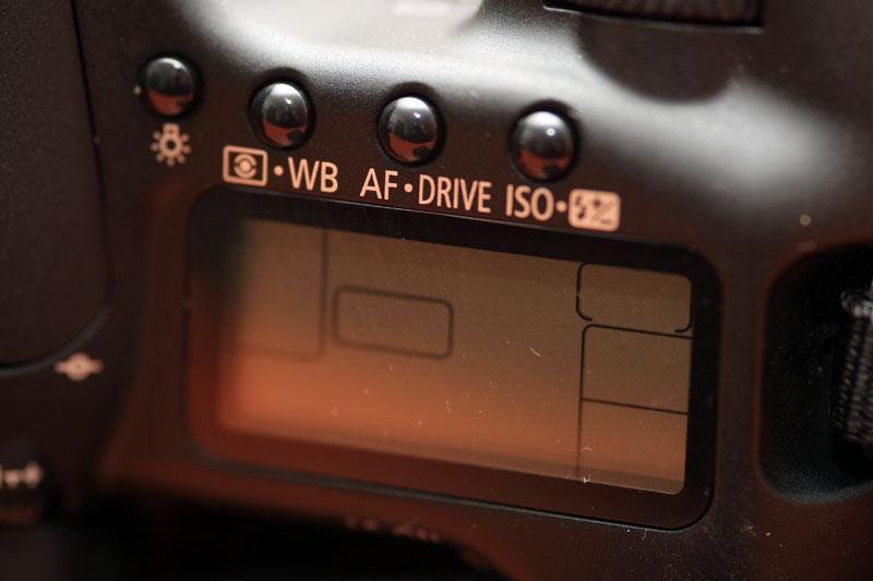 Canon EOS 40D - Top display