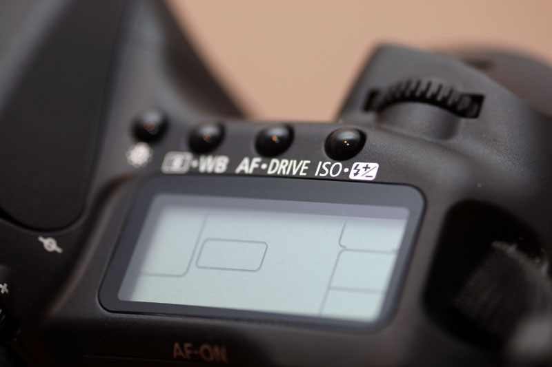 Canon EOS 40D - Top display